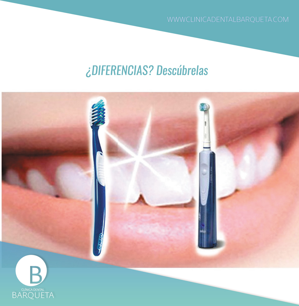 Diferencias entre cepillo dental eléctrico y manual